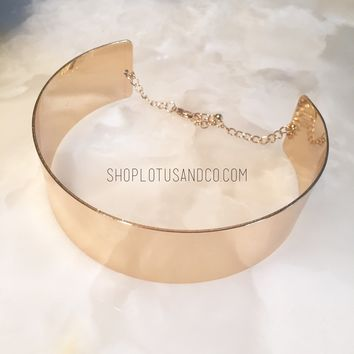 Zeta cuff necklace