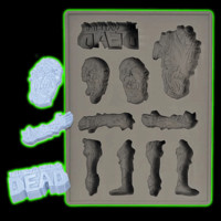 Halloweentown Store: The Walking Dead Ice Cube Silicone Tray