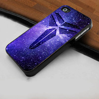 Kobe Bryant Basketball Logo Galaxy Purple Nebulla  - Hard Case Print for iPhone 4 / 4s case - iPhone 5 case - Black or White (Option Please)