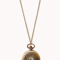 Antiqued Pocket Watch Necklace