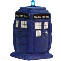 DOCTOR WHO TALKING LIGHT UP TARDIS PLUSHIE