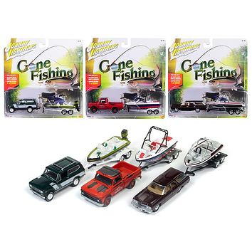 Gone Fishing 2017 Release 4A Set of 3 1:64 Diecast Model Cars