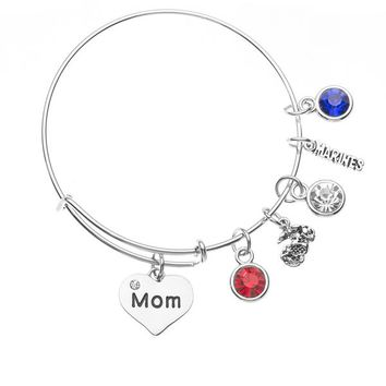 Marine Mom Charm Bangle