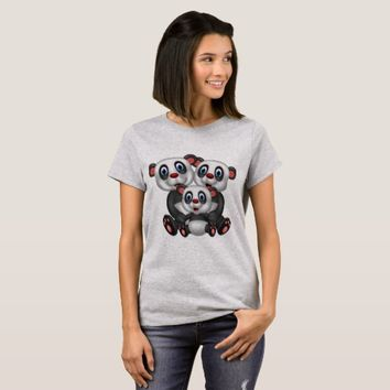 Cartoon Panda's T-Shirt