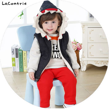 Safety Cosy Lacontrie Shark Donkey Clothing for Baby Boy newborns babies Boys Kids' things Clothes Coat + Shirt + Pants