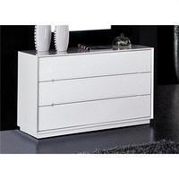 Valentino 3 Drawer Dresser in White