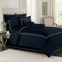 Wamsutta® Baratta Stitch Comforter Set in Black