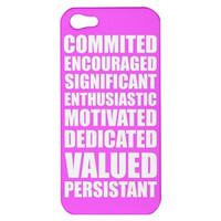 Motivational Typography iPhone Case Cover 5s, 5C, 4/4S Pink, Turquoise, White
