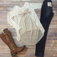 """Bow-tique Chic"" Top"