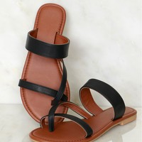 Criss Cross Me Sandal Black