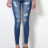 Flying Monkey Ripped Skinny Jean