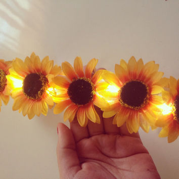 LED SunFlower Crown