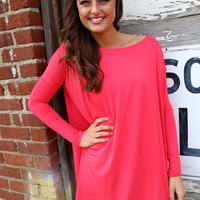 Coral Piko Tunic/Dress
