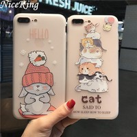 sFor iPhone 7 Case iPhone 6 Case Silicone Cute Cartoon Cat Flamingo TPU Cover Soft Phone Case For iPhone 6 6S 7 Plus Capa Fundas