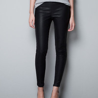 KNITTED LEGGINGS - Trousers - TRF - ZARA United States