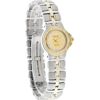 Raymond Weil Parsifal Gold Dial Two-tone Steel Ladies Watch 9690D-CH