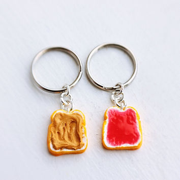 Peanut Butter and Strawberry Jelly Best Friends by bookmarksnrings