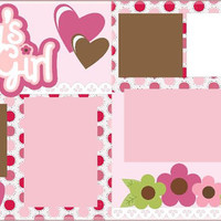 NEW!! Daddy's Little Girl Premade 2-page 12 X 12 Scrapbooking Page Layout