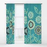 Floral romance Window Curtains by cocodes