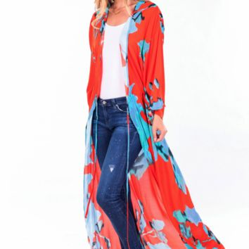YFB On The Road Reign Kimono | Watercolor/Floral