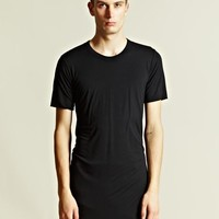 Indie Designs Rick Owens Style Unstable Cotton Jersey T-Shirt