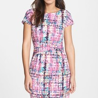 Women's Ellen Tracy Print Jersey Sheath Dress,