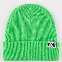 Neff Fold Beanie Neon Green One Size For Men 16452355801