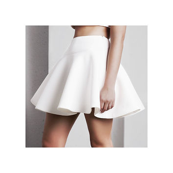 'Calypso' Full Skirt - White
