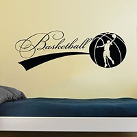 Basketball Wall Decal Sport Game Woman Ball Emblem Gym Interior Design Home Vinyl Sticker Decals Kids Nursery Baby Room Decor C594