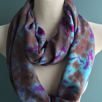 Beautiful Tie Dye Scarf, Infinity Scarf, Nursing Cover, Accessories, Scarves and Wraps, Colorful Scarf