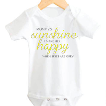 Mommy's Little Sunshine, My little sunshine, Mommy Sunshine, Baby Girl Onesuit, Baby Girl Mommy Onesuit, My little sunshine,