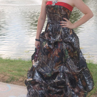 MossyOak Camo prom dress