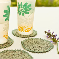 Crochet Linen Coasters - French Cottage Style