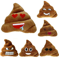 6 Style Poop Pillow Emoji Smiley Cute Expression Kids Stuffed Toy