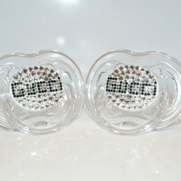 Baby Bling Pacifier Gucci made with Swarovski Crystal By Crystalolika