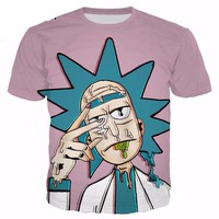 Rick And Morty Unisex 3D Tees