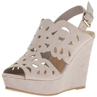 Chinese Laundry Womens In Love Cut-Out Slingback Wedge Sandals