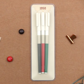 1950 Retro color 0.38mm gel pen set