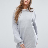 Missguided Balloon Sleeve Sweater Dress at asos.com