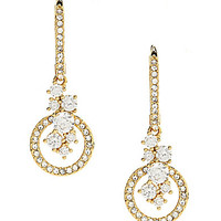 Nadri Waterfall CZ Drop Earrings - Gold/Crystal