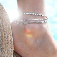 Cute New Arrival Shiny Jewelry Ladies Gift Sexy Accessory Summer Stylish Chain Anklet [6768800519]