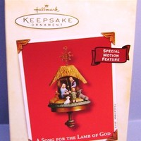 2002 A Song For The Lamb of God Hallmark Retired Ornament