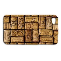 Cool Apple Logo Wine Corks Cover Cork Cute Case iPhone Phone Custom Vino Funny
