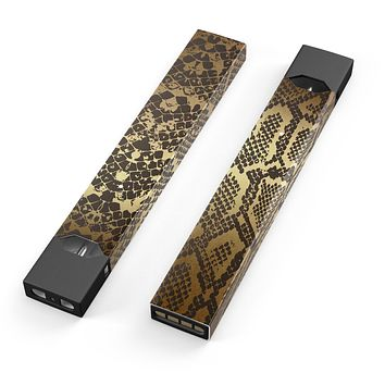 Skin Decal Kit for the Pax JUUL - Dark Gold Flaked Animal v4