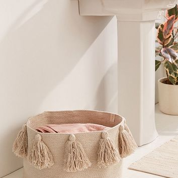 Lorena Canals Tassel Laundry Basket | Urban Outfitters