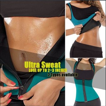 *USPS* Black slimming redu thermo hot slim belt Neoprene shaper Vest Sweat Shapewear