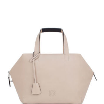 Loewe Origami Cubo Large Satchel Bag, Neutral