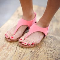 Walk In Her Shoes Sandals: Coral | Hope's