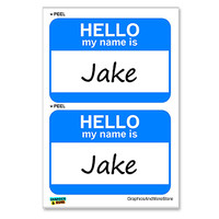 Jake Hello My Name Is - Sheet of 2 Stickers