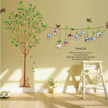 Photo Frame and Family Tree Vinyl Wall Art